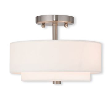 Livex Lighting Claremont 11 Inch Semi Flush Ceiling Light