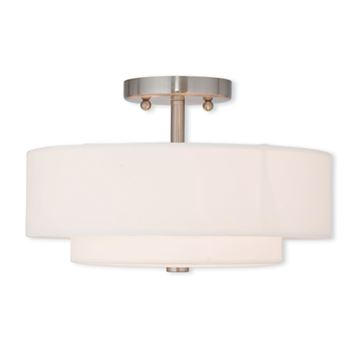 Livex Lighting Claremont 13 Inch Semi Flush Ceiling Light