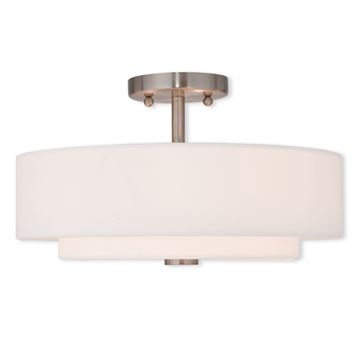 Livex Lighting Claremont 15 Inch Semi Flush Ceiling Light