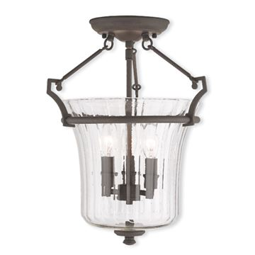 Livex Lighting Cortland 13 Inch Semi Flush Light