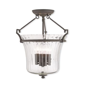 Livex Lighting Cortland 15 1/2 Inch Semi Flush Light