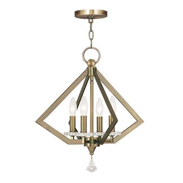 Livex Lighting Diamond 4 Light Chandelier