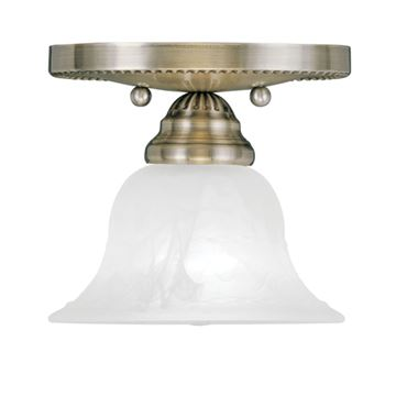 Livex Lighting Edgemont 1 Light Flush Ceiling Mount