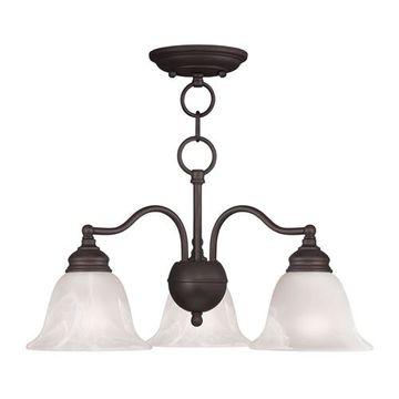 Livex Lighting Essex Convertible 20 Inch Chandelier Or Ceiling Mount