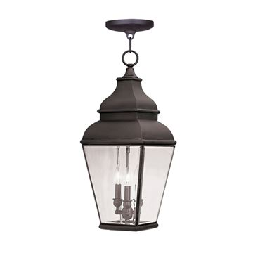 Livex Lighting Exeter Outdoor 3 Light Chain Hang Light