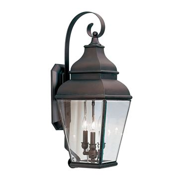 Livex Lighting Exeter Outdoor 3 Light Wall Lantern