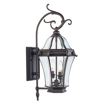 Livex Lighting Fleur de Lis Outdoor 2 Light Wall Lantern