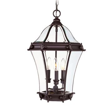 Livex Lighting Fleur de Lis Outdoor 3 Light Chain Hang Light