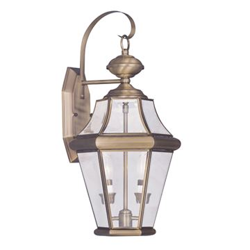 Livex Lighting Georgetown Outdoor 2 Light Wall Lantern