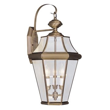 Livex Lighting Georgetown Outdoor 3 Light Wall Lantern