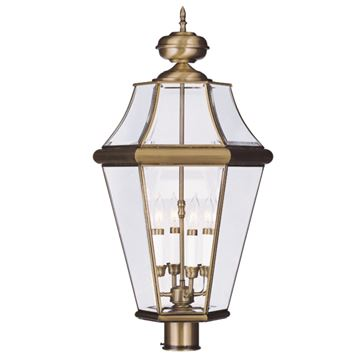 Livex Lighting Georgetown Outdoor 4 Light Post Head Light
