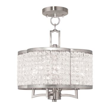 Livex Lighting Grammercy Chain Or Semi Flush Light