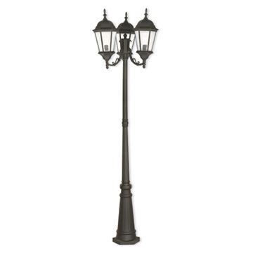 Livex Lighting Hamilton 3 Light Outdoor Post Light