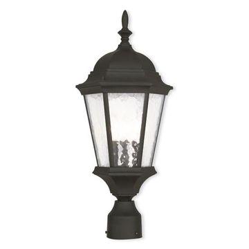 Livex Lighting Hamilton 3 Light Outdoor Post Top Lantern