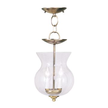 Livex Lighting Legacy Seeded Glass Chain or Semi Flush Light