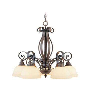 Livex Lighting Manchester 5 Light Down Shade Chandelier