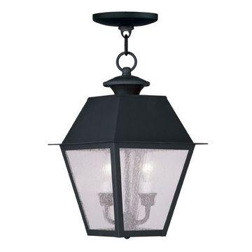 Livex Lighting Mansfield Outdoor 2 Light Chain Hang Light