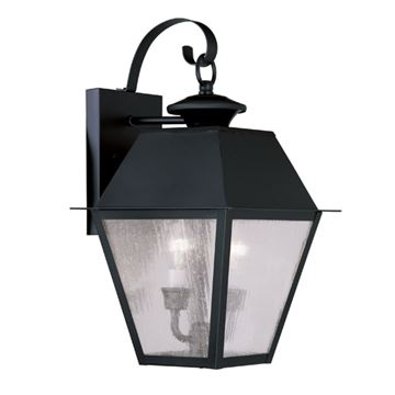 Livex Lighting Mansfield Outdoor 2 Light Wall Lantern