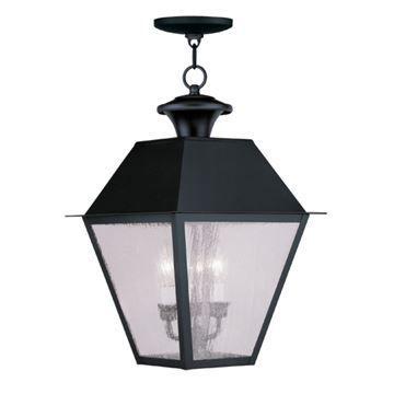 Livex Lighting Mansfield Outdoor 3 Light Chain Hang Light