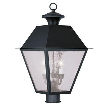 Livex Lighting Mansfield Outdoor 3 Light Post Head Light