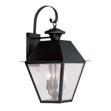 Livex Lighting Mansfield Outdoor 3 Light Wall Lantern