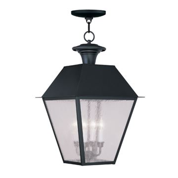 Livex Lighting Mansfield Outdoor 4 Light Chain Hang Light