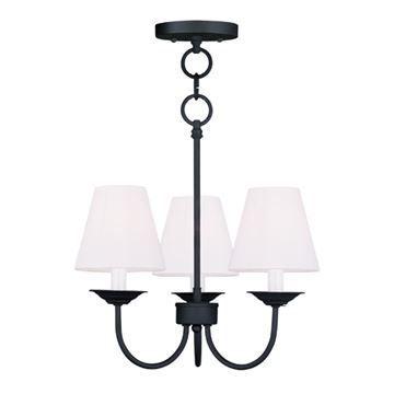 Livex Lighting Mendham 3 Light Chain Or Semi Flush Light