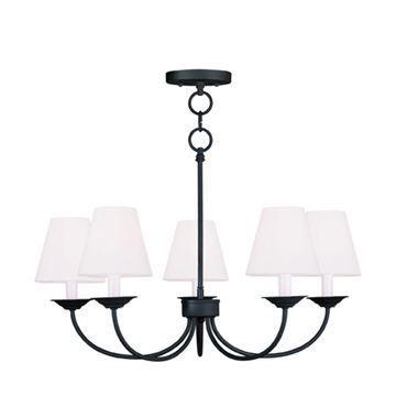 Livex Lighting Mendham 5 Light Chain Or Semi Flush Light