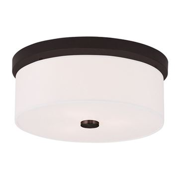 Livex Lighting Meridian 13 1/2 Inch Flush Mount Light
