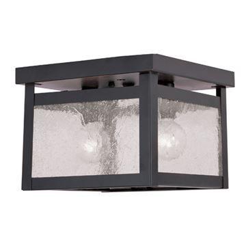 Livex Lighting Milford 2 Light Seeded Glass Flush Mount