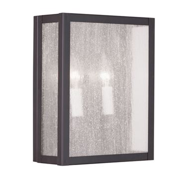 Livex Lighting Milford 2 Light Seeded Glass Wall Sconce