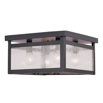 Livex Lighting Milford 4 Light Seeded Glass Ceiling Mount