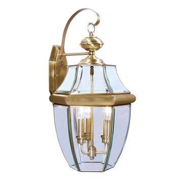 Livex Lighting Monterey Outdoor 3 Light Wall Lantern