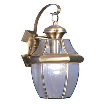 Livex Lighting Monterey Outdoor Beveled Glass Wall Lantern
