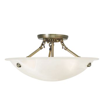 Livex Lighting Oasis 16 Inch Semi Flush Ceiling Mount Light