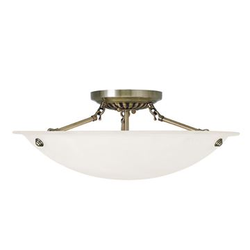 Livex Lighting Oasis 20 Inch Semi Flush Ceiling Mount Light