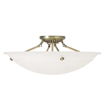 Livex Lighting Oasis 24 Inch Semi Flush Ceiling Mount Light