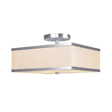 Livex Lighting Park Ridge 12 Inch Square Semi Flush Light