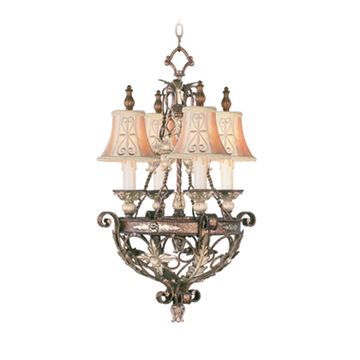 Livex Lighting Pomplano 4 Light Chandelier