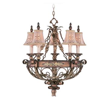 Livex Lighting Pomplano 5 Light Chandelier