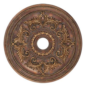 Livex Lighting Prefinished 30 1/2 Inch Acanthus Ceiling Medallion
