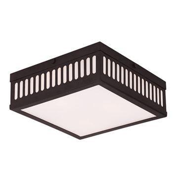 Livex Lighting Prentice 10 1/2 Inch Square Flush Ceiling Light