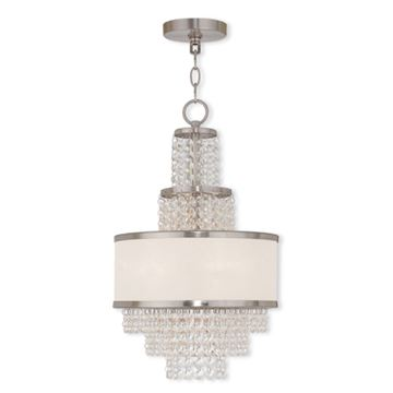 Livex Lighting Prescott 3 Light 20 Inch Mini Chandelier