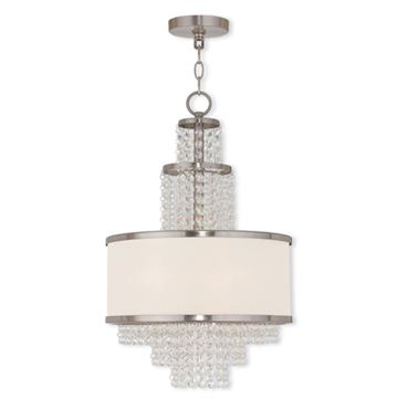 Livex Lighting Prescott 3 Light 22 Inch Mini Chandelier