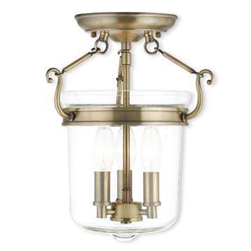 Livex Lighting Rockford 10 1/2 Inch Semi Flush Light