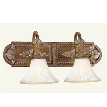 Livex Lighting Savannah 2 Light Down Shade Vanity Light