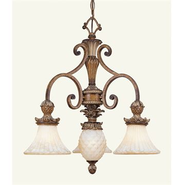 Livex Lighting Savannah 3 Light 23 1/2 Inch Chandelier