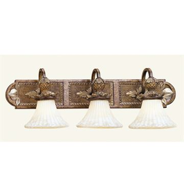 Livex Lighting Savannah 3 Light Down Shade Vanity Light