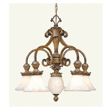 Livex Lighting Savannah 6 Light 26 1/4 Inch Chandelier