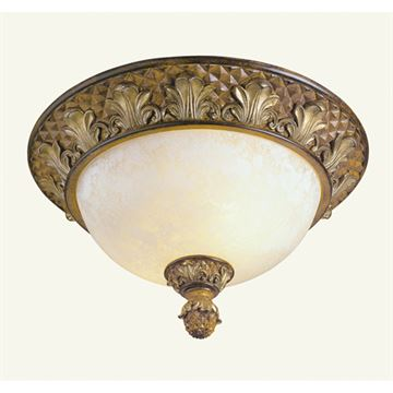 Livex Lighting Savannah Flush Ceiling Light